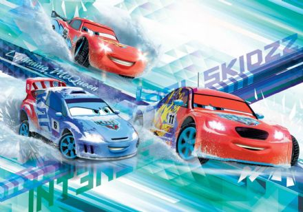 Non-woven wallpaper Disney Cars Blue